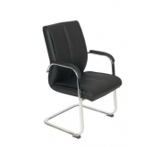 """Magnum"" Black Faux Leather Visitor Armchair"