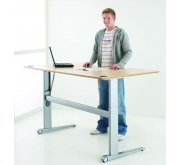 Sit Stand Height Adjustable Desk | Conset 501-17