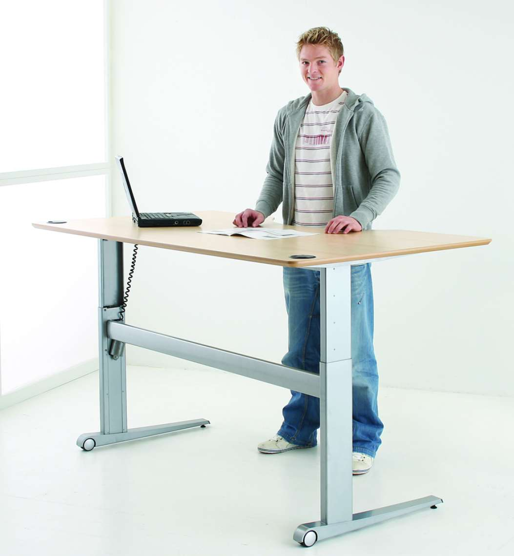 Sit Stand Height Adjustable Desk | Conset 501 17